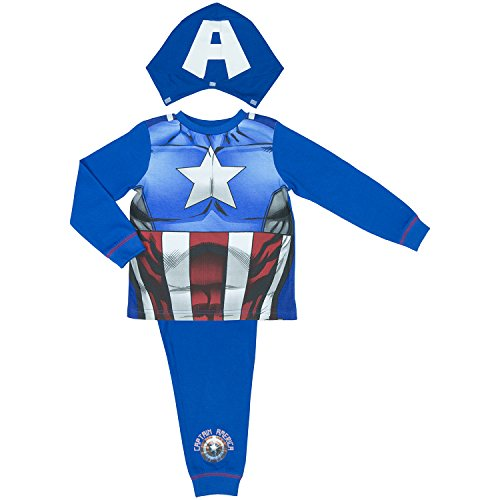 Marvel Avengers Assemble Captain America Jungen-Schla - 7-8 Years / up to 128 cm