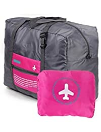 PETRICE Travel Foldable BAG,Polyester Material, Large Capacity Waterproof Foldable Lightweight Luggage Bag (PINK...