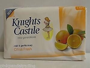 3 x 5-PACK KNIGHTS CASTILE CITRUS FRESH SOAP MILD & GENTLE 15 X 80g