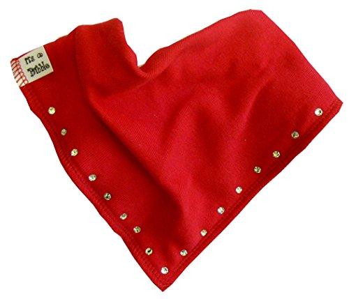 singolo-diamante-baby-bavaglino-bandana-100-cotone-con-rivestimento-in-pile-quattro-co-red-taglia-un