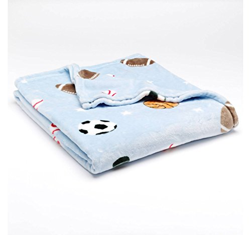 """The Big One Oversized Microplush Fleece Throw Blanket 60"""" X 72"""" - Blue Sports front-437241"""