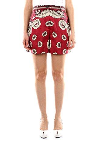 IB0RF0561WQEN0-Valentino-Shorts-Femme-Soie-Rouge