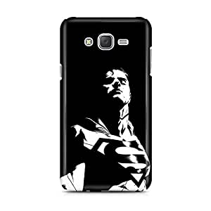 Motivatebox - Samsung Galaxy J2 Back Cover - Balk White Superman Polycarbonate 3D Hard case protective back cover. Premium Quality designer Printed 3D Matte finish hard case back cover.