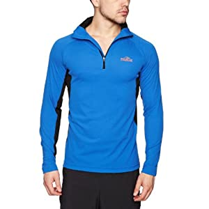 Bear Grylls Men's Bear Long-Sleeved Technical Top, Medium, Extreme Blue