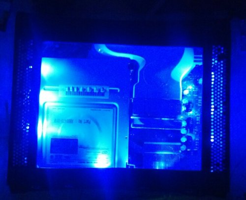 Xbox 360 Custom Blue Led Clear Window Top Case - Plug & Play (Phat Consoles Only)