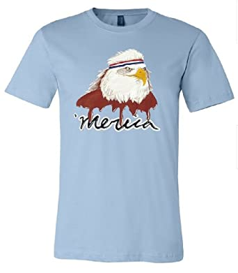 USA Mullet Eagle | Patriotic 80's Eagle of Freedom - Merica Unisex T-shirt-Adult,S