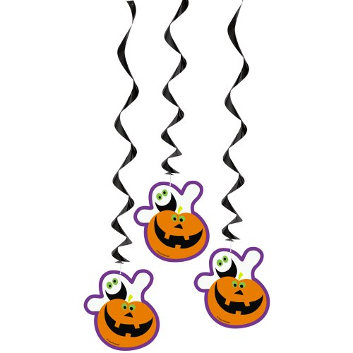 "36"" Hanging Pumpkin Boo Halloween Decorations, 3ct"