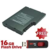 Battpit⢠Laptop / Notebook Battery Replacement for Toshiba Qosmio G30-162 (6600 mAh) with 16GB Battpit⢠USB Flash Drive