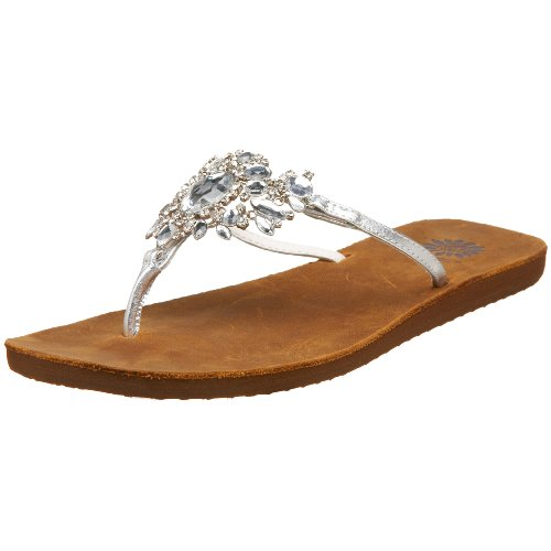 e728217d319ea Yellow Box Women s Bette Sandal Sale Yellow Box Bette in Silver or  Black.Comfortable and stylish thong sandals on a flexible rubber sole are  lavishly ...