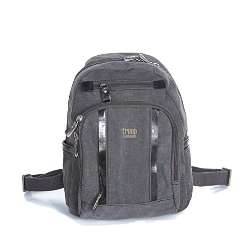 handbag-queen-uk-petit-sac-a-dos-noir-en-toile-unisexe-sac-a-dos-en-cuir-troop-london-tailler