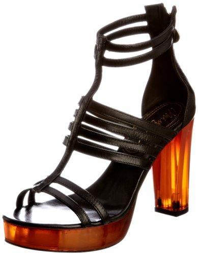 Miss Sixty Women's Franny Black Ankle Strap Heels Q02230-LE9635-G06000 5 UK, 38 EU