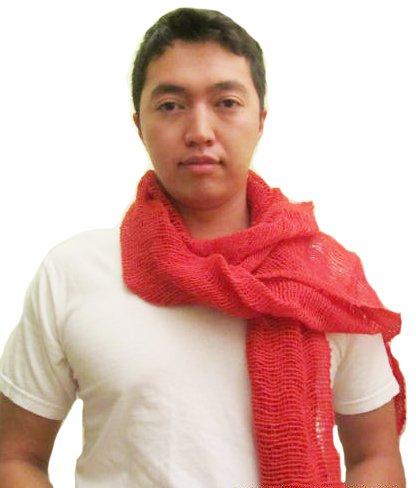 Ton Fai Free Weave Scarf- Coral