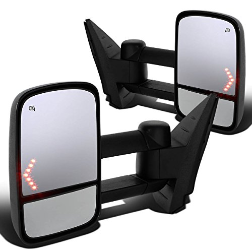 DNA Motoring Chevy/GMC GMT900 Pair of Power+Heated+Arrow Turn Signal Light Manual Folding Towing Side Mirror (2014 Chevy Towing Mirrors compare prices)