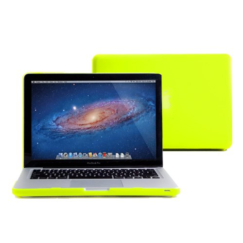Cheap GMYLE (R) Neon Yellow Frosted Matte Rubber Coated See Thru Hard Shell Clip Snap On Case Skin C...