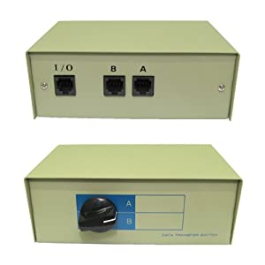 2 Way RJ45 Network Switch Box - Ethernet - LAN - Networking - Manual - Metal Case (Fully Shielded) - Gold Plated Connectors - Heavy Duty Rotary Switch - Protective Anti Skid Rubber Feet