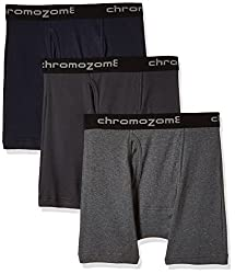 Chromozome Men's Cotton Trunk (Pack of 3) (8902733343916_IT 11_X-Large_Ash, Coal and Navy)