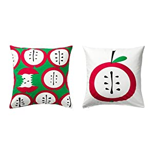 ikea apple holiday colors red green throw pillow cover cushion sleeve new 26 x 26. Black Bedroom Furniture Sets. Home Design Ideas
