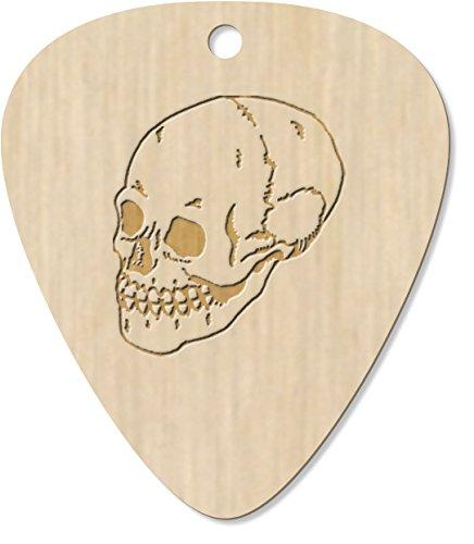 8 x Three-Quarter Skull Engraved Guitar Pick / Pendant (D-GP-00002996)