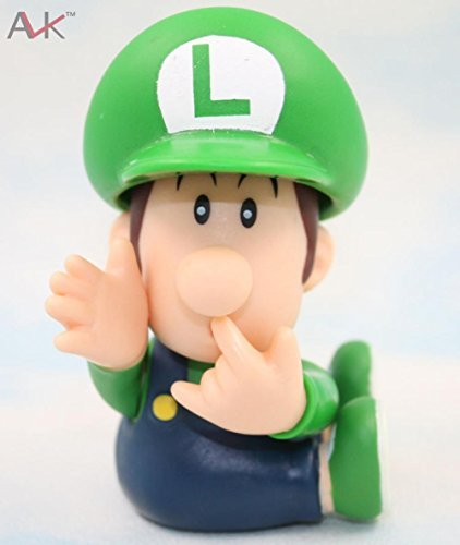 Super Mario Bros Bb Mario Bb Luigi Pvc Action Figure Collectible Model Toy 8.5Cm Fga674