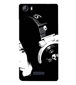 Headphone Girl 3D Hard Polycarbonate Designer Back Case Cover for Micromax Canvas 5 E481