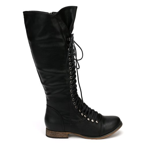 Hot-Fashion-Georgia-35-Womens-Combat-Boots-Knee-High-Military