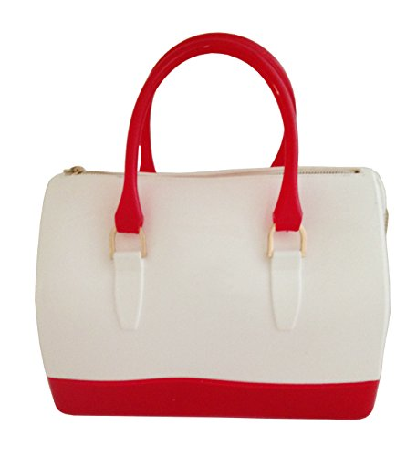 DISKREET® of UK, CANDY BAG SWEET JELLY Two-Tone Handbag Satchel, Top Handle Handbag (Jelly Handbags Furla compare prices)