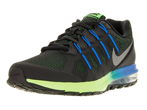 Nike Mens Air Max Dynasty Prem Running Shoe (8 D(M) US, Black/Metallic Cool Gray/Electric Green/Photo Blue) (Air Supply Shoes compare prices)