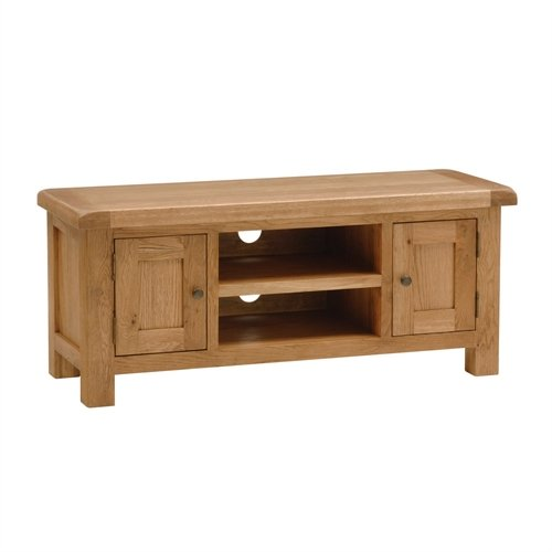 Lyon Oak Large TV Stand with 2 Doors - up to 53""
