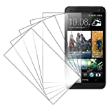 MPERO 5 Pack of Invisible Screen Protectors for HTC One M7