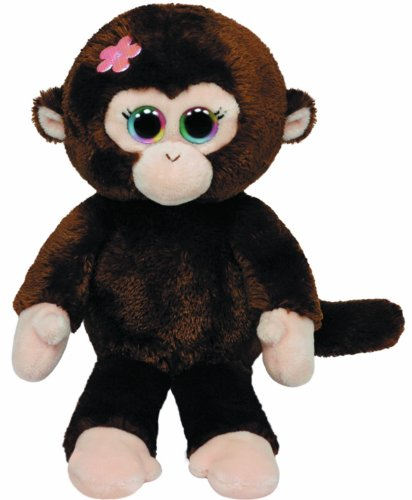 Ty Beanie Babies Petals Monkey with Flower Plush - 1