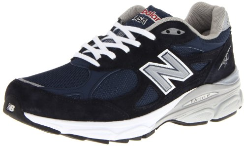 Balance - Mens 990v3 Stability Running Shoes, UK: 6.5 UK - Width 2E, Navy with Grey & White