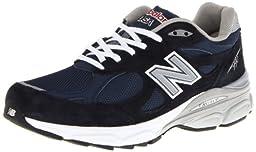 New Balance Men\'s M990NV3 Running Shoe,Navy,10 D US