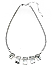 Autograph Cube Design Collar Necklace MADE WITH SWAROVSKI® ELEMENTS