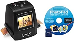ClearClick 22MP Virtuoso Film & Slide Scanner with PhotoPad Software & 8 GB Memory Card - Convert 35mm, 110, 126, & Super 8 Film To Digital