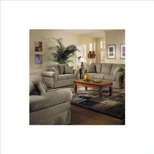 Klaussner furniture woodwin 4 piece living room sofa set for Fun living room chairs