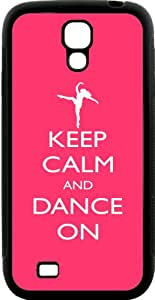 Rikki Knight Keep Calm and Dance On - Tropical Pink Color Samsung Galaxy S4 Case Cover