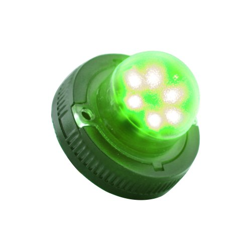 Lamphus Snakeeye Ii-6 Emergency Vehicle Surface Mount 6W Led Police Ems Firefighter Hide-A-Way Strobe Warning Light ( Other Color Available ) - Green