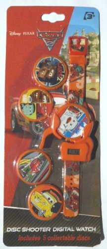 Cars 2 - Disney Pixar Cars 2: Armbanduhr + Disc-Shooter + 5 Cars Sammeldiscs