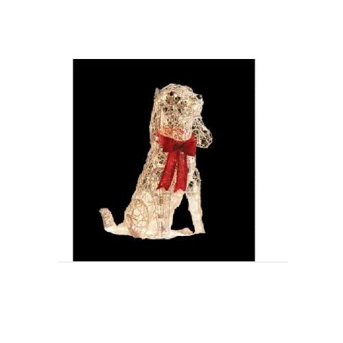 amazoncom 30 in lighted grapevine dog christmas outdoor decoration - Outdoor Lighted Dog Christmas Decorations