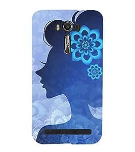 Animated Girl 3D Hard Polycarbonate Designer Back Case Cover for Asus Zenfone 2 Laser ZE500KL