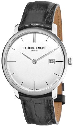 Frederique Constant Men's FC306S4S6 Slim Line Slim Line Mens Silver Dial Automatic Watch Watch