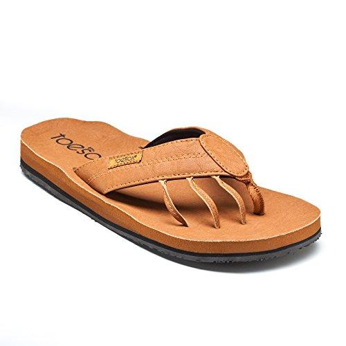 Toesox Men's Encino Flat Teak Size 13