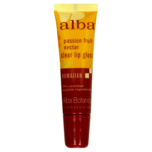 Alba Botanica Lip Gloss, Passion Fruit Nectar, 0.42 Ounce Tube