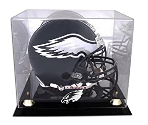 Philadelphia Eagles Golden Classic Helmet Display Case with Mirror Back by Mounted Memories