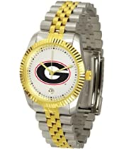 Georgia Bulldogs UGA NCAA Mens Steel Executive Watch