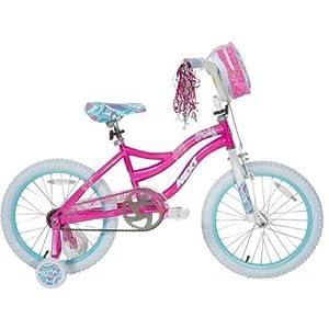 NEW! Dynacraft Misty Girl's Bike with Font Bag (18-Inch, Pink/White/Aqua)