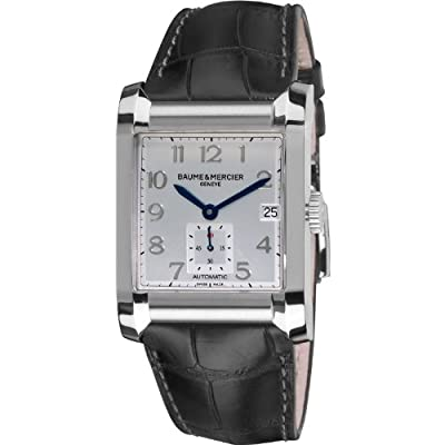 Baume & Mercier Men's 10026 Silver Dial Black Strap Automatic Watch