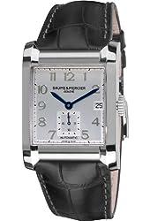 Baume & Mercier Men's 10026 Silver Dial Black Strap Automatic Watch