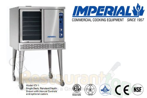 Imperial Commercial Convection Oven Single Deck Standard Depth Natural Gas Model Icv-1