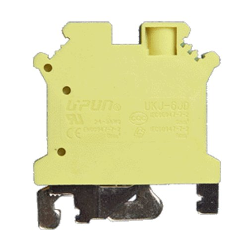 ASI ASIUSLKG16N Din Rail Mounted Ground Circuit Connection Terminal Block, Screw Clamp (Pack of 50)